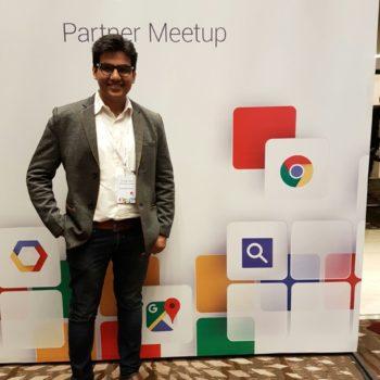 Nashik's Shashank Todwal (UMS) at Google Cloud Partner
